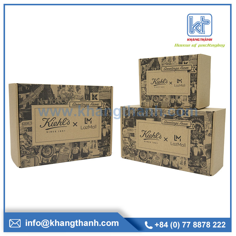 recycled environmentally friendly box packaging
